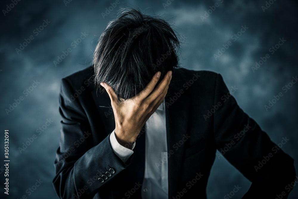Fototapeta 悩むビジネスマン