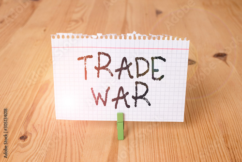Photo  Word writing text Trade War