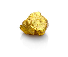 Gold Nuggets Natural On A Whit...