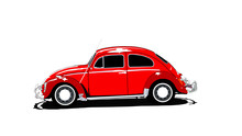 Red Beetle Isolated. Classic C...