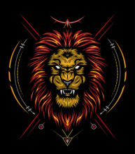 Roaring Lion Logo King Gold On...