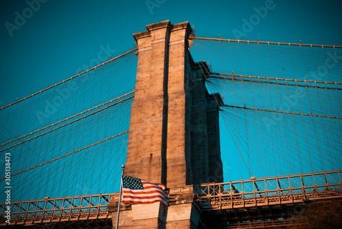 CITY NEW YORK BUILDINGS VIEWS STREETS LIGHTS BRIDGE LIGHTS SEA DAWN SUNSET PEOPL Canvas Print