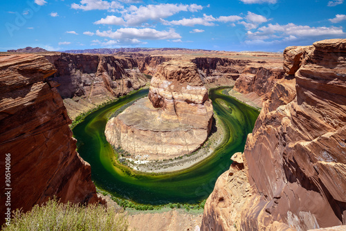 Foto auf Leinwand Braun Famous viewpoint, Horse Shoe Bend in Page, Arizona