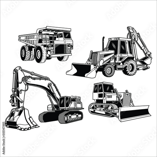 Fotomural  Construction Equipment Collection
