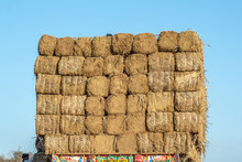 Hay Bales On On The Trailer