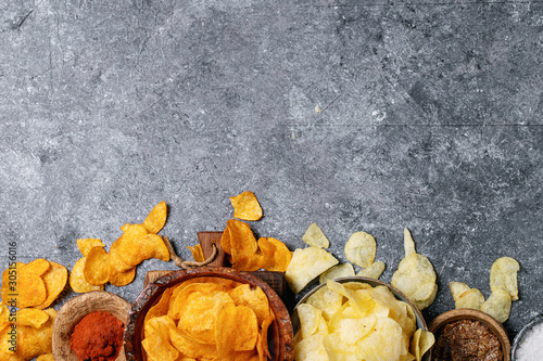 Fotomural Bowl of home made potato chips