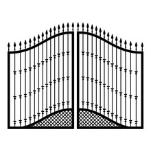 Forged Gates Icon Black Color Vector Illustration Flat Style Image