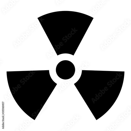 Fotomural Radioactivity Symbol Nuclear sign icon black color vector illustration flat styl