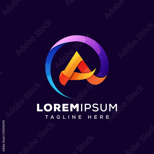 Fotomural abstract letter a logo illustration  premium vector template