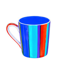Colorful Ceramic Mug Or Cup Isolated On White With Clipping Path