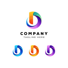 Colorful Letter D Logo Vector ...