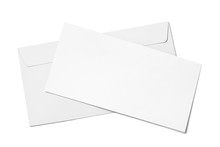Blank White Paper In Envelope,...