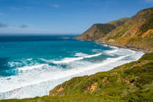 The Pacific Coast And Ocean At...