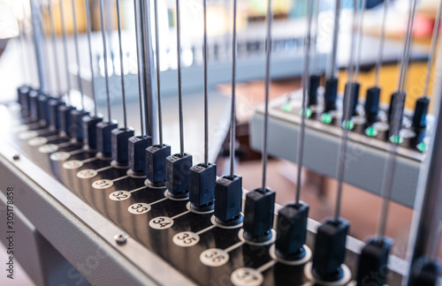 Metal antennas and numbered buttons Wallpaper Mural