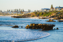Beautiful Views At Golden Hour Of The Sunset Over The Beach And Ocean With People Out To Enjoy The Summer Lifestyle Trigg, Perth, Western Australia Has To Offer.