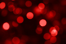 Blurry Red Abstract Bokeh Festive Christmas / Valentines Background