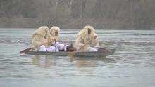 Three Men In Traditional Hunga...