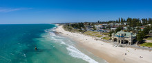 Aerial Panoramic View Of Cottesloe Beach In Perth, Western Australia