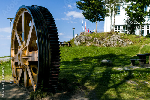 industrial wheel Canvas Print