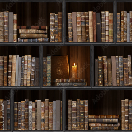 06-of-30-black-wood-bookshelf-old-books-seamless-texture-vertically-and-horizontally-tiled-bookshelf-background-also-tiled-with-other-textures-from-same-set-in-my-gallery-pack2