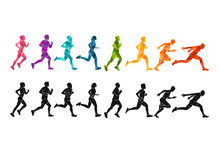 Running Marathon, People Run, ...