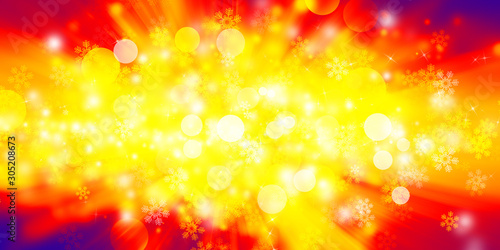 canvas print motiv - ooddysmile : red bokeh blur background / Circle light on red background / Light gold sparkle background