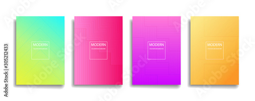 bright color abstract pattern background with line gradient Slika na platnu