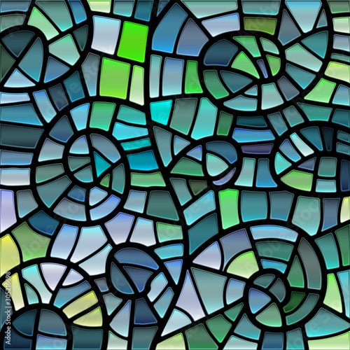 Obraz na plátně abstract vector stained-glass mosaic background
