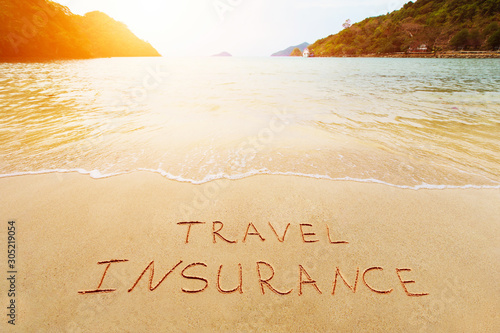 Travel insurance and cover of accidental risk concept Canvas Print