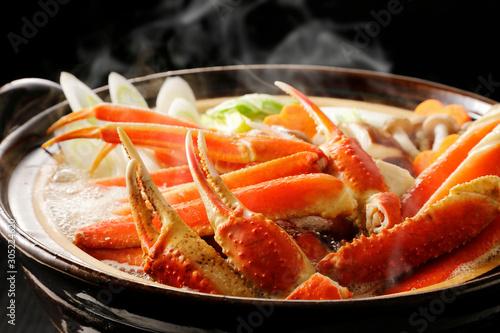 カニ鍋 Japanese style crab hot pot Canvas Print