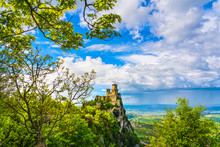 San Marino, Medieval Tower On ...