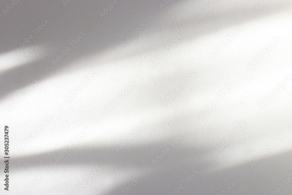 Fototapeta background of organic shadow over white textured wall