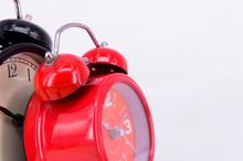 Alarm Clock On White Backgroun...