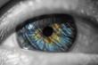 Artwork Colored Grey Augen Blick