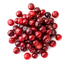 Pile Of Red Cranberries On A W...