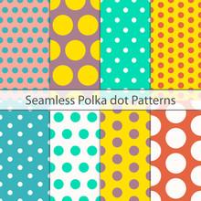 Polka Dot Seamless Pattern Che...