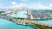 International Port Of Singapore Near Sentosa Island