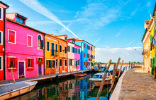 Colorful Houses In Burano Isla...