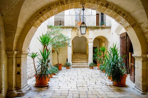 Canvas Historical palace. Bari. Puglia, Italy.