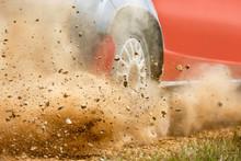 Gravel Splashing From Rally Ra...