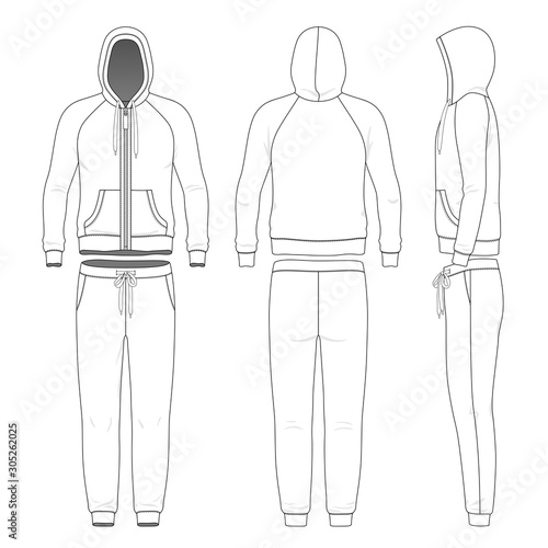 Cuadros en Lienzo  Clothing set of man hoodie and pants.