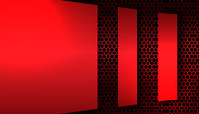 Abstract Metallic Red And Blac...