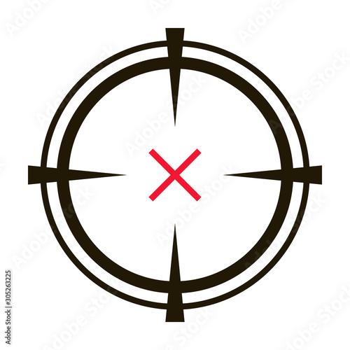 Fotografía Eye target vector icon