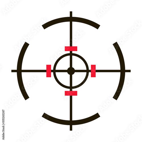 Sniper sight vector icon Wallpaper Mural
