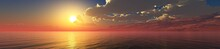 Panorama Of The Ocean Sunset, ...