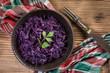canvas print picture - Purple cabbage salad.