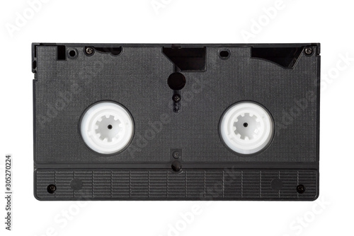 Old video cassette isolated on white background. Fototapet