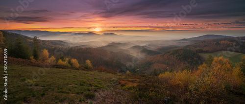 Fototapeta  Fantastic Sunset over the Murg Valley