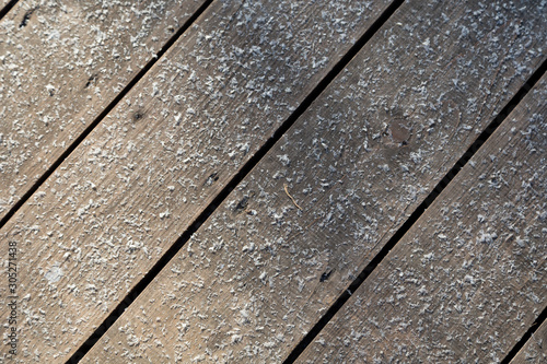 Background of wooden boards. Wallpaper Mural