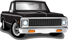 Classic 70's Style Pickup Truck